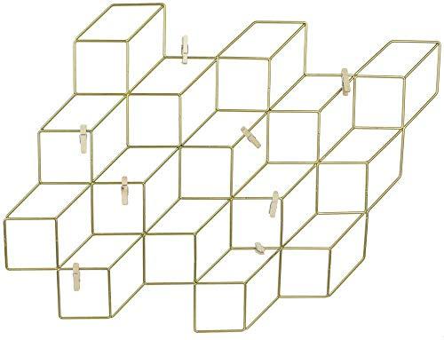 THE HOME DECO FACTORY Pêle-mêle Cubes filaires avec 8 Pinces 46 cm