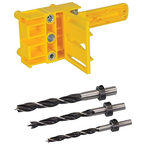 Katigan Dowel Drill Set for Pocket Hole Jig 6, 8 & 10Mm Carpenters Joint Tool