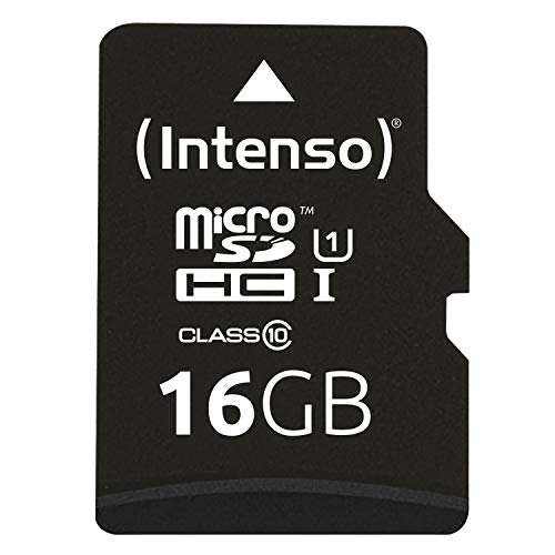 Intenso Micro SDHC 16GB Class 10 Speicherkarte inkl. SD-Adapter (UHS-I)