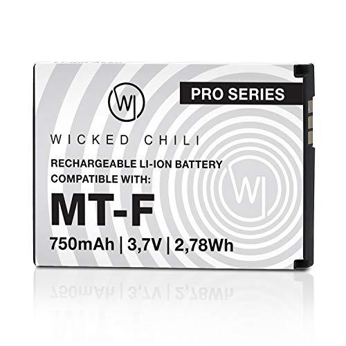 Wicked Chili Akku kompatibel mit AVM Fritz!Fon C5 / C4 / M2 / MT-F/Motorola MOTOFONE F3 / EM325 / M325 / EM25 - Ersatz-Akku für: AVM 312BAT016, 312BAT006, 312BAT006CS-FVM446CL - 750mAh Li-Ion