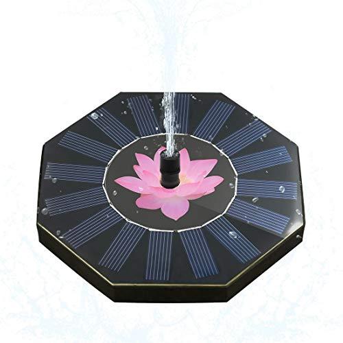 WSGJHB Fontein op zonne-energie, voor in de tuin, in het zwembad, vogelbad, kleine vijverdecoratie