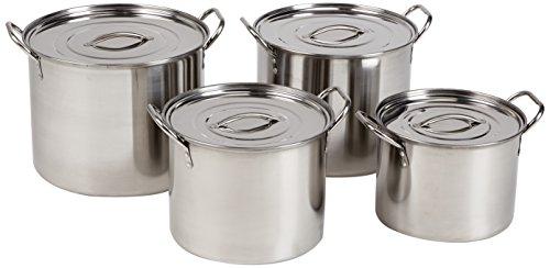 Alpine 4-Piece Stainless Steel Stock Pots
