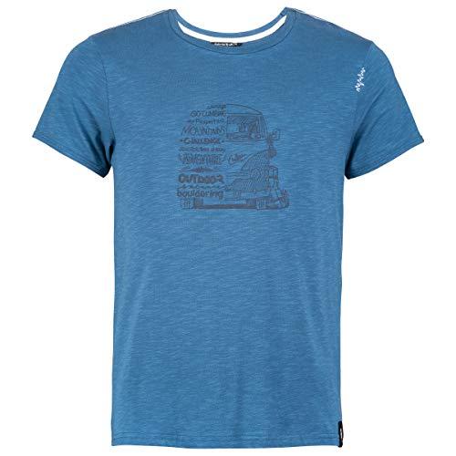 Chillaz Lettering Bus T-Shirt pour Homme XL Bleu foncé