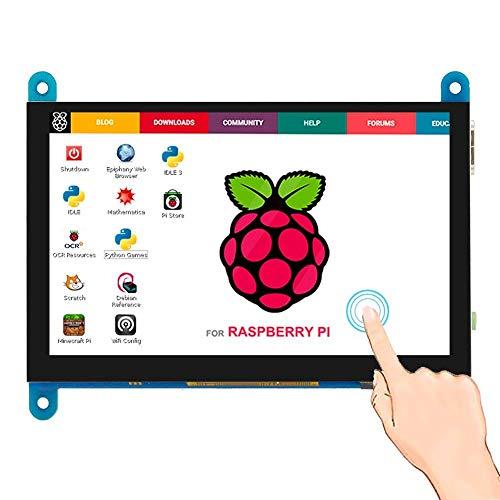 Elecrow 5-Zoll kapazitiver Touchscreen tragbarer Monitor, LCD HDMI Display 800x480 TFT Mini Monitor Kompatibel mit Raspberry Pi 4B 3B +, BB Schwarz, Banana Pi Windows 10 8 7
