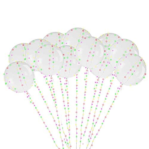 opamoo Palloncini Luminosi LED ,12pcs Balloon Lampeggiante Palloncini Luminosi Trasparente Palloncini a Bolle con Striscia Led Da 3M per Compleanni,Matrimoni, Celebrazioni, Feste, Natalizi ,20 Pollici