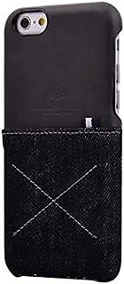 حافظة Kaj23 من جلد الدينيم ممتصة للصدمات على شكل محفظة بتصميم رقيق لهواتف ايفون 6 اس 4.7 انش - اسود