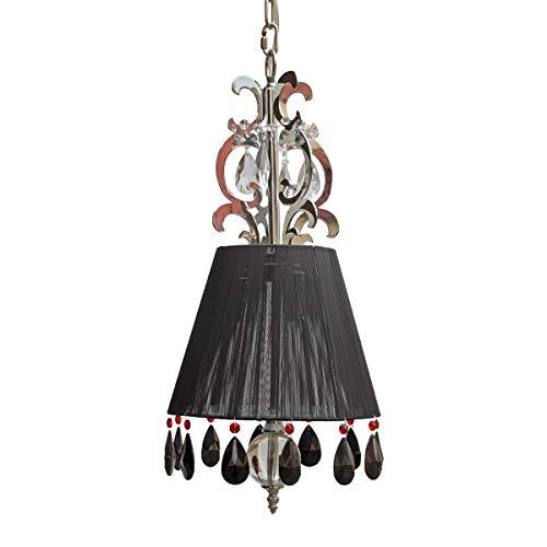 GARCÍA REQUEJO Lámpara de techo con pantalla de hilos, lámpara de techo colgante con detalles en cristal