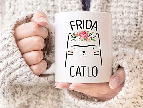 N\A Divertida Linda Frida Catlo Taza Frida Kahlo Taza Taza Feminismo Feminis