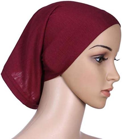 MINGRONG Kopftuch Muslimische Frauen Elastic Under Scarf Tube Bonnet Cap Hijab Kopfbedeckung