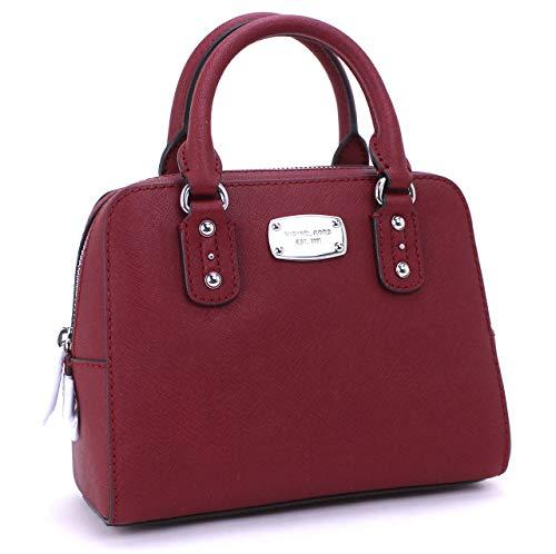 Michael Kors Convertible Mini Satchel Saffiano Leather (Cherry)