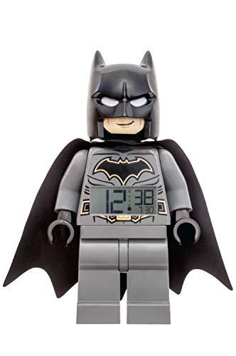 LEGO Reloj Despertador, Negro/Gris, DC Comics Batman