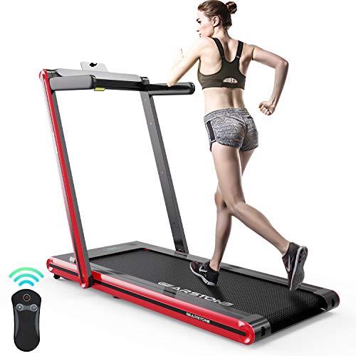 Laufband, Elektro-Laufband mit 1400 W Motor, 2 Sportmodi von 1km/h bis 15 km/h, flach schlankes Gerät mit Fernbedienung und LCD-Display für Zuhause und Büro