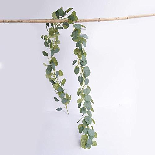 Promworld Hiedra Hojas de Vid Enredadera Guirnalda Decorativa,Eucalipto simulado Vine-A,Plantas Hiedra Artificial Guirnalda Decorativa
