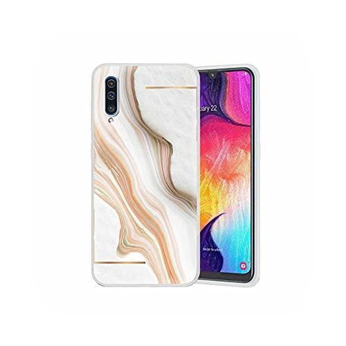 Funda translúcida de mármol de moda para Samsung Galaxy A51, A71, A21s, A31, A41, A11, M31, M30s, M51, suave mate de la cubierta del teléfono Sac-S07-para Samsung A21