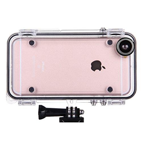 FATEGGS Accesorios para teléfonos móviles Hamtod para iPhone 6 Plus y 6S más Funda Impermeable Deportiva Extrema con Lente de Gran Angular de 170 Grados, Compatible con Accesorios Gopro Casos Cubre