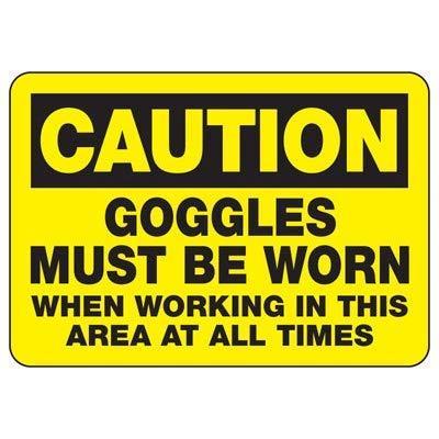 Vivityobert Warnschilder für Schutzbrillen und Warnschilder, Metall, Gefahrenhinweis, Warnschild, 20 x 30 cm