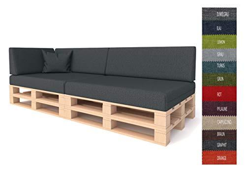 Pillows24 Palettenkissen Palettenauflage Polster für Europaletten | Hochwertige Palettenpolster | Palettensofa Indoor & Outdoor | Erhältlich Made in EU | Graphit