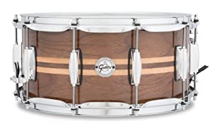 "Gretsch Drums Full Range Series S1-6514W-MI 14x6.5"" Gloss Walnut Snare W/Maple Inlay"