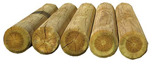 Gartenpirat Holzpalisaden Ø 10 cm 90 cm hoch Palisade imprägniert zur Beetumrandung Palisade