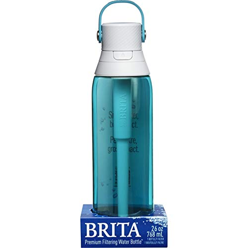 Brita 26 Ounce Premium Filtering Water Bottle with Filter - BPA Free - Sea Glass