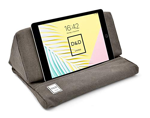 D&D Living iPad Kissen-Ständer | Bequemes Pad Pillow für Tablets, Handys und eReader