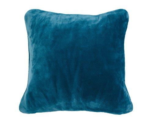 Gözze Premium Cashmere Kissenbezug, Polyester, Petrol, 50 x 50 x 5 cm, 2-Einheiten