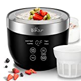 Yogurt Maker, Yogurt Maker Machine with Stainless Steel Inner Pot, Greek Yogurt Maker with Timer Control,...