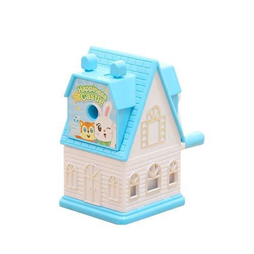 Cartoon castle pencil sharpener blue…