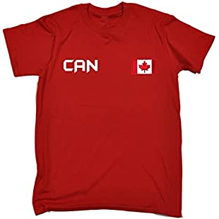 Canada Supporter Tee Team Canadian Nation Fan Flag Games Sports Jersey (XXL - RED) T-SHIRT