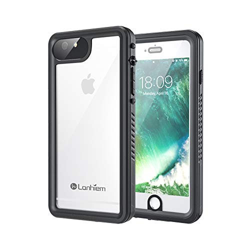 Lanhiem iPhone 6 Plus Case, 6s Plus Case, IP68 Waterproof Dustproof Shockproof Case with Built-in Screen Protector, Full Body Sealed Underwater Protective Cover for iPhone 6 /6s Plus (5.5 inch, Black)
