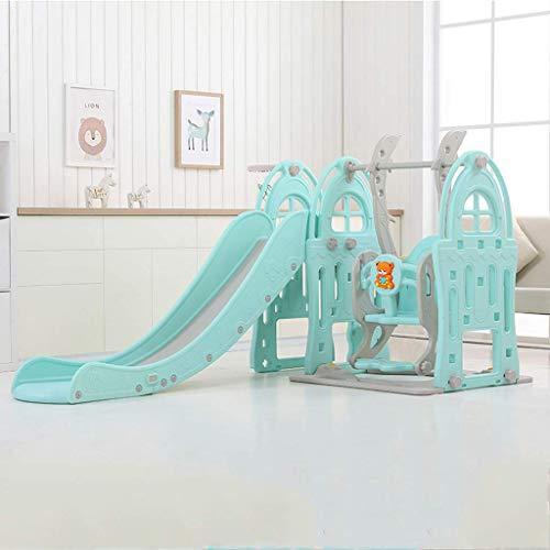 Wghz Tobogán para niños, diseño Multifuncional 4 en 1, con casilleros, toboganes Independientes para niños pequeños, niños pequeños, Parque de Juegos de Juguete, jardín, Escalada para Juegos en i