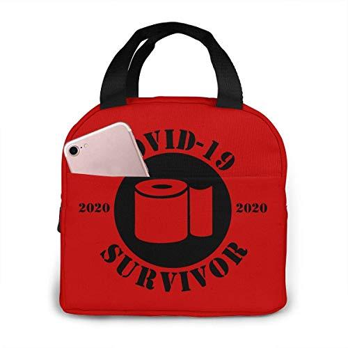 Covid-19 Survivor Coronavirus - Borsa termica per il pranzo, per donne, ragazze, bambini, borsa termica per picnic, borsa termica