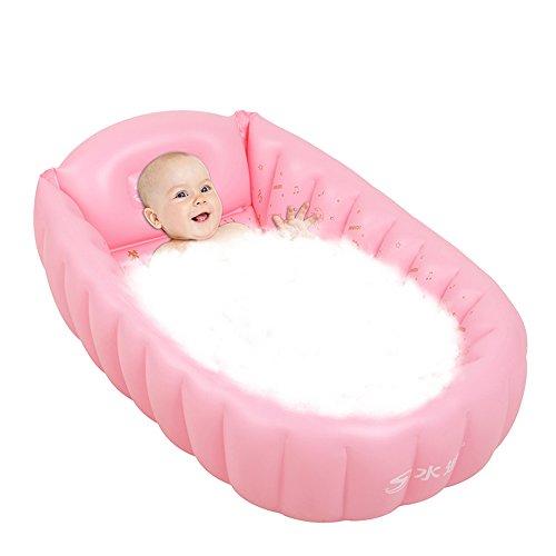 Silai Praktisch Draagbaar Kind Volwassen Opblaasbare Badkuip Zuigelingen En Jonge Kinderen Met Dikke Plastic Opblaasbare Opblaasbare Tub+Elektrische Pomp Opblaasbaar Zwembad (Kleur : Blauw, Roze)