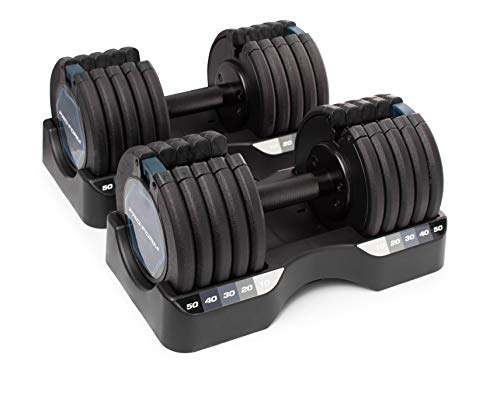 ProForm 50 lb. Select-a-Weight Dumbbell Pair, Black
