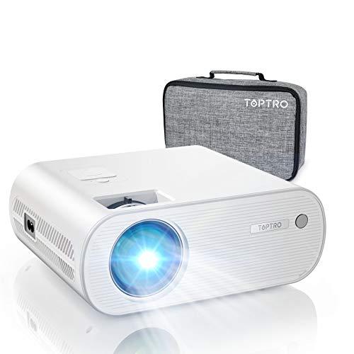 WiFi Beamer Bluetooth, TOPTRO Projektor 6000 Lumen Full HD Mini Beamer Portable Home Theater Projektor 200