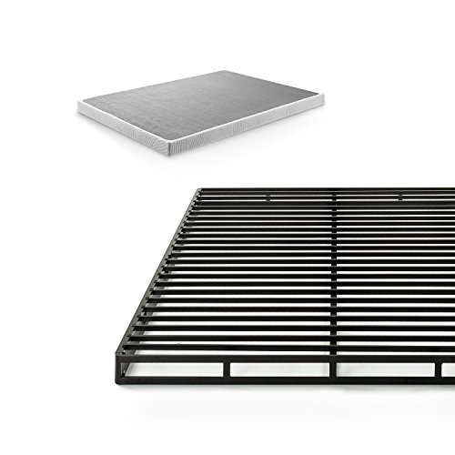 Zinus Victor 4 Inch Low Profile Quick Lock Smart Box Spring / Mattress Foundation / Strong Steel Structure / Easy Assembly, Queen