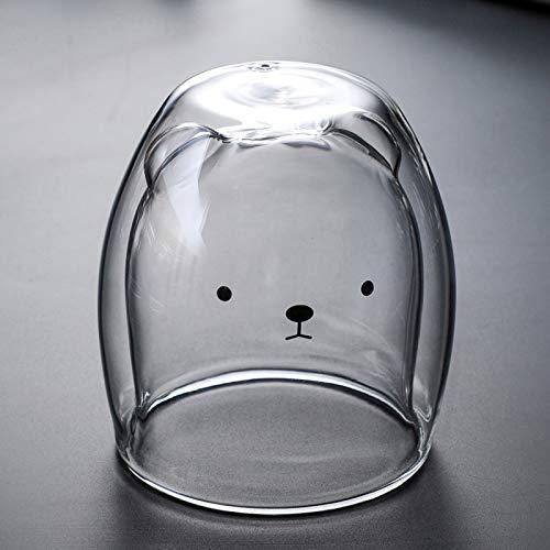 JKKJ Vasos de café de cristal de doble pared de 230 a 280 ml, resistentes al calor, vasos de borosilicato, vaso térmico aislado para té, capuchino, latte, bebidas calientes y frías