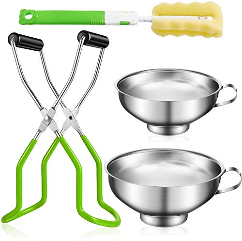 for Home Canning Supplies Kits Canning kit Green Canning Jar Canning Tong Green Lifter Tongs Canning jar Lifter Tongs Stainless Steel jar Lifter with Grip Handle