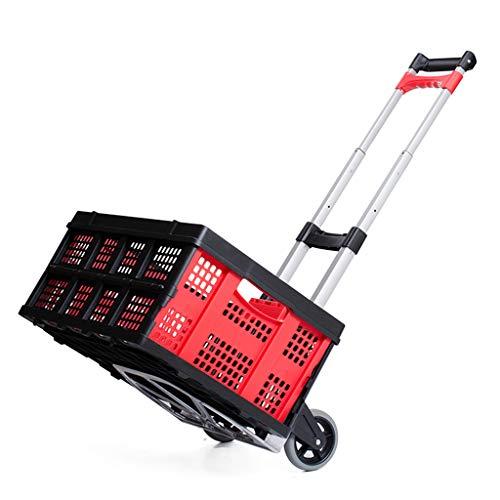 Shqybh Trolley ist EIN klappbares und tragbare Grocery Einkaufswagen, EIN Haushalt Gepäckwagen ist EIN multifunktionales lasttragenden, verschleißfest und faltbar, leicht zu verstauen