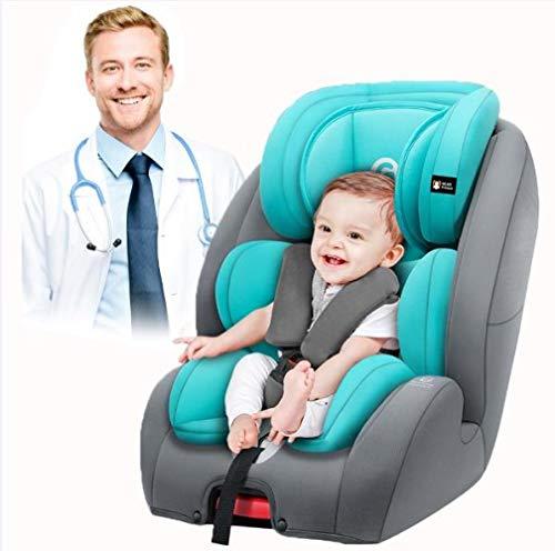 LQ&XL Silla de coche bebe silla coche Grupo 1/2/3 (0-36 kg, desde los 9 meses los 12 años), 5 puntos fijos, Puede sentarse o acostarse crece con el niño desde/A