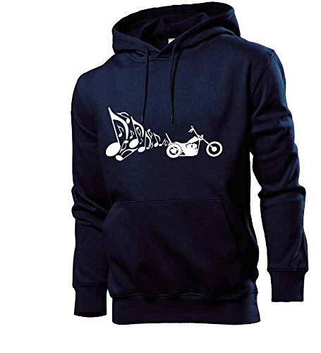 Generisch Motorrad Chopper Auspuff Musik Männer Hoodie Sweatshirt Navy S - shirt84.de