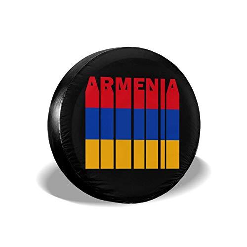 Beth-D Armenia Flag Word reservewielhoes, stofdicht, waterdicht, voor camper, SUV, aanhangers en vele voertuigen van 14 – 17 inch