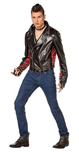Karneval-Klamotten 80er Jahre Kostüm Punker Jacke Herren