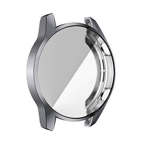 BZN Smart Watch Case per Huawei GT2 46mm placcatura TPU Shell Protettiva all-Inclusive (Nero) (Color : Gary)