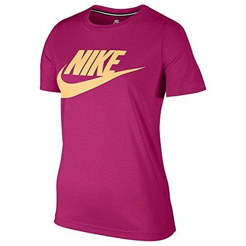 Nike W NSW Essntl Tee Hbr, Maglie A Manica Corta Donna, Sport Fuchsia/Sport Fuchsia/Melon Tint, L
