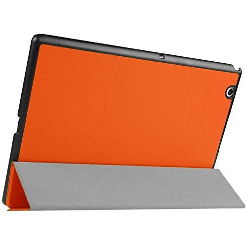 PANPAN - Funda para tablet Sony Xperia Z4, diseño de textura Karst horizontal, color sólido, con soporte para tres plegables, color negro