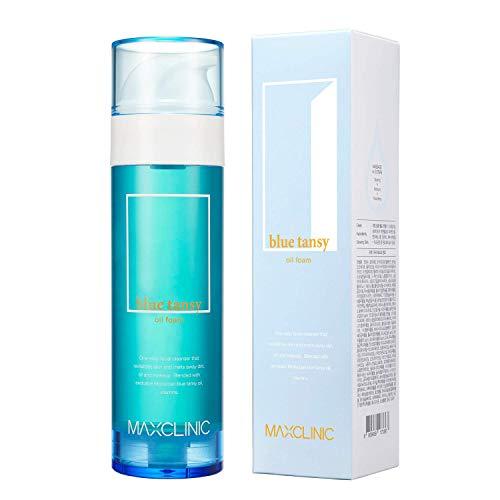 MAXCLINIC Espuma de aceite de tanaceto Limpiador facial y desmaquillador todo en uno con aceite de tanaceto azul original de Marruecos 110g / 3.88oz