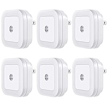 Vont  Lyra  LED Night Light Plug-in [6 Pack] Super Smart Dusk to Dawn Sensor Night Lights Suitable for Bedroom Bathroom Toilet,Stairs,Kitchen,Hallway,Kids,Adults,Compact Nightlight Cool White