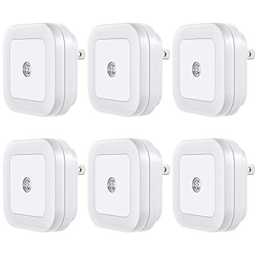 Vont 'Lyra' LED Night Light, Plug-in, (6 Pack) Super Smart Dusk to Dawn Sensor, Night Lights Suitable for Bedroom, Bathroom, Toilet,Stairs,Kitchen,Hallway,Kids,Adults,Compact Nightlight, Cool White
