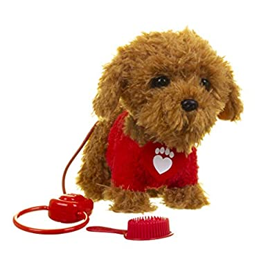 Walkies with Waffle Soft Toy, Waffle the Wonder Dog, Super Cute and Cuddly, Remote Control Dog, Cbeebies, Age 18 Months Up by Golden Bear Products Ltd
